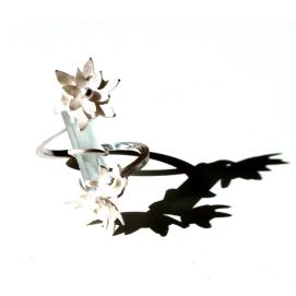 Somni de primavera: aiguamarina i plata / Spring dream: Aquamarine and silver