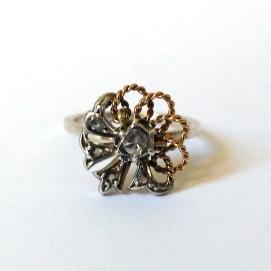Or, plata i diamant talla rosa / Gold, silver and rose cut diamond
