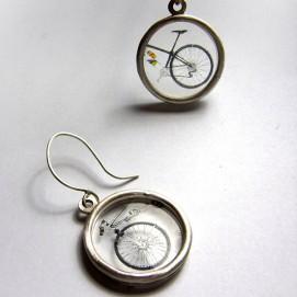 Bicis compartides: impressió sobre acetat i plata / Shared bikes: impression on acetate and silver