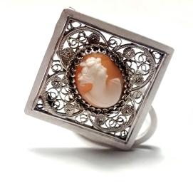 Camafeu i plata / Cameo and silver