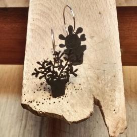 Testos: arracades / Flowerpots: earrings