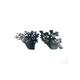 Testos: plata oxidada / Flowerpots: oxidized silver